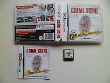 NINTENDO DS PAL Game Crime Scene RARE! Tested
