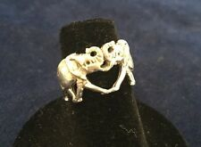 Sterling Silver Elephant Ring Size 4 3/4
