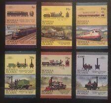 Eisenbahn Briefmarken BERNERA ISLANDS Set #2 1986 postfrisch