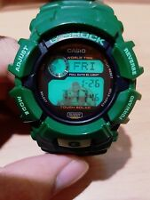 Vintage G-Shock Army Green Hulk Solar World Time Full Auto EL Light Rare Limited