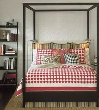 American Living Ralph Lauren Red White Checkerboard Stonewashed Full/Queen Quilt
