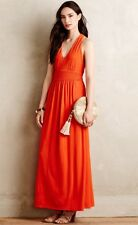 NEW Anthropologie Yuma Jersey Maxi Dress Size 6 Orange