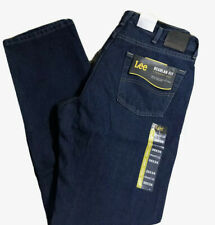 LEE Men's Jeans Regular Fit Straight Leg Sits at Waist Orion Dark Blue Wash NWT