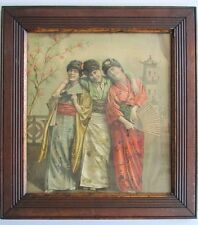 Belle Époque Edwardian Theatre Actresses in Geisha Costume Vintage Photo Print