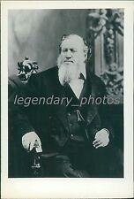 Circa 1800s Brigham Young Portrait in Chair Original News Service Photo