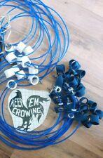 12 Tangle Free Tie Cords. Color Commercial Cord ,Dbl Swivl, Nylon Hitch