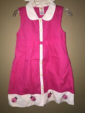 Gymboree Cape Cod Cutie ladybug dress New pink girls size 4 4t sundress nautical