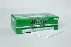 1100 GREEN MENTHOL 17mm EMPTY ROLLO TUBE Cigrarette Tobbacco Filter