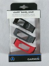 Garmin Vivofit Bands, Small Size Red, Gray, and Black 3 Pack