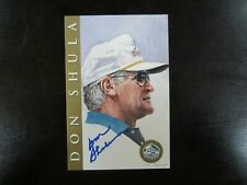 Don Shula Autograph / Signed Ron Mix Hall of Fame Card Card Miami Dolphins