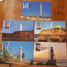 Australia 2006 Set 5 Maxicards With Stamps - Lighthouses - Mint