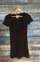 Juicy Couture women ladies sweater dress size small short sleeve brown