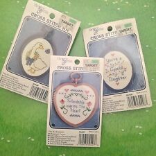 New Berlin Counted Cross Stitch Kit Lot of 3 Goose Daughter Heart Oval Frame