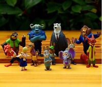 12pcs Zootopia Action Figure Judy Hopps Figurine Doll Play set Toy cake topper