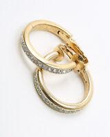 Vintage Givenchy Hoop Rhinestone Earrings
