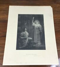 Antique Photographic Print The Sign of the Cross Victorian Religious Portrait