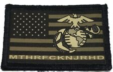 Subdued USMC MTHRFKNJRHD Morale Patch Tactical Army Marines USA Flag