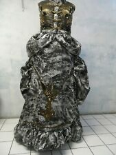 Victorian bustle Beaded couture Steampunk Dress sz 14