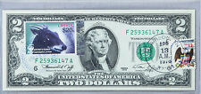 US Currency Notes Paper Money US 1976 2 Dollar Bill First Day Issue Stamp Duiker
