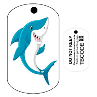 Shark Trackable Tag  (Travel Bug) For Geocaching - Trackable Tag - Unactivated