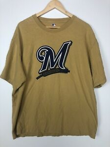 Milwaukee Brewers MLB Baseball Team Genuine merchandise Men's T-Shirt XL M LOGO