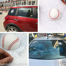 Simulation 3D Baseball car Decal Window Body Adhesive Ball Hit glass Crack Decal