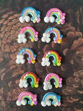 Cute Rainbow Flatback Cabochon,Craft, Bow Accessories. 5 Choices