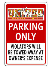 PERSONALIZED BUSINESS PARKING SIGN DURABLE ALUMINUM NO RUST CUSTOM SIGN..