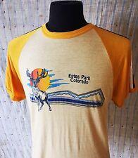 Vintage 70's Souvenir T-Shirt Colorado Estes Park Elk M