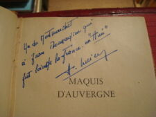 Joseph-Louis SANCIAUME Maquis d'Auvergne 1945 E.O.