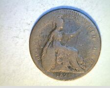 1825 Great Britian, Farthing, Low Grade Copper Coin (UK-390)