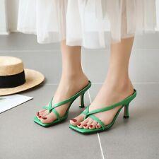 Occident Womens Sexy Clip Toe High Heels Slip On Sandals Slipper Comfort Club