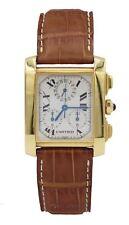 Cartier Tank Francaise Chronoflex 18K Yellow Gold  Men's Watch W5000556