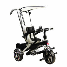 Kyootsi Kids Smart Trike Baby Tricycle 3 Wheel 4 in 1 Bike with Handle White New