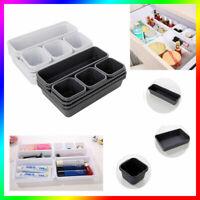 8pcs/Set Desk Drawers Insert Organisers Jewelry Tidy Divider Makeup Storage Box