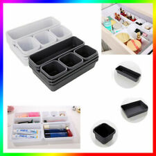 8pcs/Set Desk Drawers Insert Organisers Jewelry Tidy Divider Makeup Storage Box