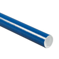 "Qty 1 - 2"" x 20"" Blue Cardboard Mailing Tube with End Plugs / Caps (Single Tube)"