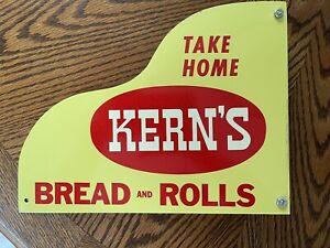 Vintage Kern's  Bread Door Push Or Pull Sign