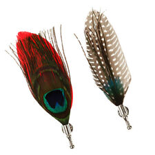 Vintage Style Feather Brooches Corsage Costume Dress Hat scarf Brooches Pins