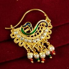 Nose Rings Ethnic Wedding Jewelry Indian Women Bridal Nath Traditional 18K