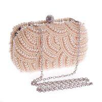Womens Handbags Pearls Evening Bag Clutch Gorgeous Bridal Wedding Party Clutches