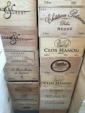 Caja de vino Madera 12er caja decorativa vino Shabby chateau estante Grand Cru Pomerol