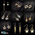 Ladies Gold Silver Plated Earrings Drop/Dangle Hoop Womens Earrings