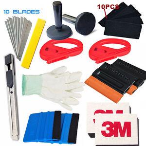 Car Application Tools Vinyl Wrap 3M Felt Squeegee 2 Magnets Blades Window Tint