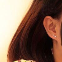 925 STERLING SILVER  STAR STUD EARRINGS EAR JEWELLERY 1 PAIR  UK SELLER