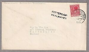 1939 Airmail First Flight Cover Rotterdam Waalhaven Netherlands To Manchester UK