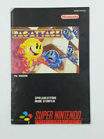 Notice jeu SNES Pac-Attack Pacman Super Nintendo Livret Instruction Manuel