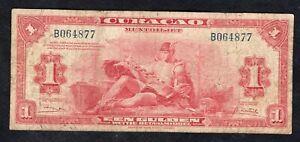 1 Gulden From Curacao 1947 Good