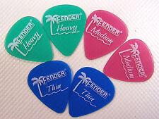6 x Fender Plec`s / Picks / Gitarrenplättchen gemischt weich / mittel / hart
