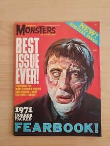 Famous monsters 1971 yearbook nice condition